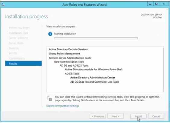 Add secondary Windows Server 2012 R2 Domain Controller