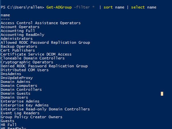 powershell  export active directory group members