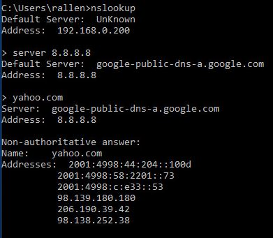 How to use Nslookup to check DNS Records
