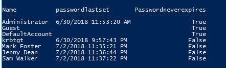 how to get admin password with powershell