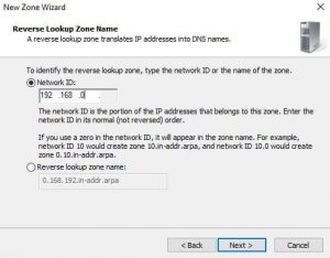 Configure DNS Reverse Lookup Zones and PTR Records (Windows Server 2016)