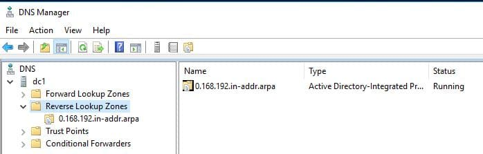 Configure DNS Reverse Lookup Zones and PTR Records (Windows