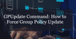 How to use gpupdate command to force policy updates